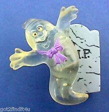 BUY1&GET1@50%~Hallmark PIN Halloween LIGHT UP GHOST on RIP Tombstone Vtg - WORKS