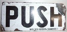 1930's Vintage Porcelain New York Subway Turnstyle Push Plate