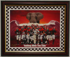 """ALABAMA football """"ROLLING WITH THE TIDE"""" framed print"""