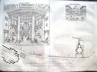 1837 PROGETTO CHIESA DI SAN CARLO DI MILANO TAVOLA A DOPPIA PAGINA