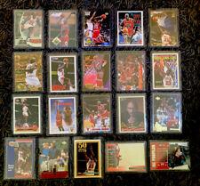 New listing MICHAEL JORDAN 20-CARD LOT. SEE PICS. HIGH BV $$. TOPPS GOLD, UD, FLEER METAL.