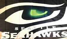 Seattle Seahawks Flag Lg New 3x5 Man Cave Banner No Drop Ship Fast USA Seller