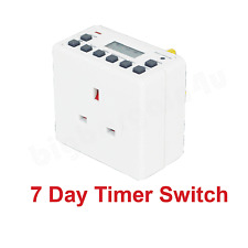 12/24 Hour 7 Day LCD Digital Electronic Plug-in Programmable Timer Switch Socket
