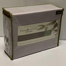 New Eucalyptus Origins™ Tencel® Lyocell King Sheet Set Purple Stripe 400 Tc Nwt
