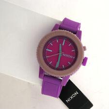 NIXON Women's A287-698 Analog GOGO Rodeo Watch Purple Silicone Plastic