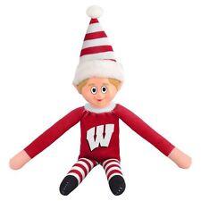 Wisconsin Badgers Plush Christmas Elf [NEW] NCAA Doll On The Shelf Stuffed Toy