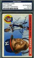 Ray Crone 1955 Topps Psa Dna Coa Autograph Authentic Hand Signed