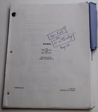 SOLACE * 2005 Movie Script Screenplay * EARLY DRAFT, Sequel to 1995 film Se7en ?