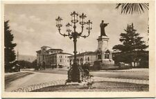Primi '900 Brescia Monumento Arnaldo Piazza Banchetti Passanti FP B/N ANIM