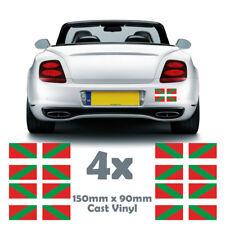 4x BASQUE Drapeau Autocollants-Voiture Autocollant Vinyle-Pays Basque Stickers 150 mm x 90 mm