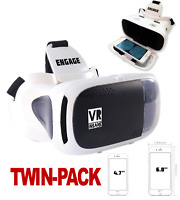 2 x VR INSANE ENGAGE 3D Virtual Reality Headset for Smartphones Android iOS