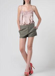 CHLOE Paris green wool mini shorts authentic - Size 6-8 US / 10 UK / 38 FR - NWT