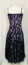 Tea Dress Purple Size 8 Fit And Flare Sleeveless Full Skirt