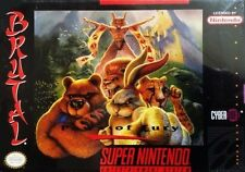 Brutal Paws Of Fury SNES Great Condition Fast Shipping