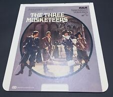 The Three Musketeers CED RCA Selectavision VideoDisc - Rare, Fantasy - VTG