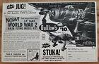 VINTAGE 1969 GUILLOWS STUKA / JUNKERS BALSA AIRPLANE MODEL ADVERTISEMENT