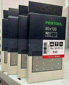 Festool Granat Rectangular P40 - 4 Packs of 10 (40 Sheets!)