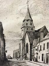 Bazouges Abraham Tancrède Château-Gontier Mayenne 1872 Pays de Loire estampe