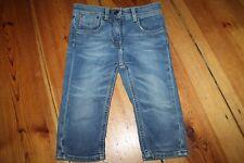 BURBERRY 5-Pocket Jeans Stretch 3/4 Hose 6 Jahre Gr. 116 blau Capri wie NEU