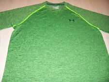 Under Armour Heatgear Loose Fit Green Activewear Shirt Mens Large Excellent