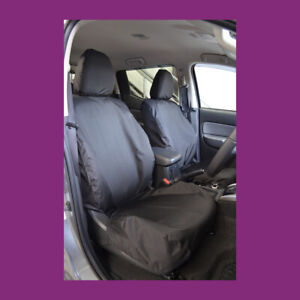 Mitsubishi L200 2015+ Waterproof Black Tailored Pair Front Seat Covers