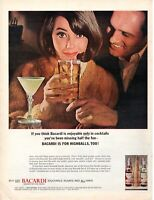 1964 ORIGINAL VINTAGE BACARDI RUM WHISKEY ALCOHOL MAGAZINE AD