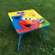 Sesame Street Folding Table Toddler Play Activity Learning by Delta Kids