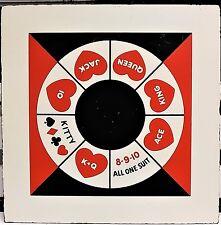 Rare Michigan Rummy Tripoley Rummoli Royal Poker Table Top Large Board