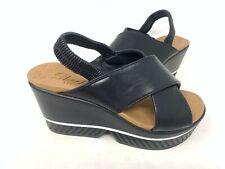 NEW! Skechers Women's LIVIN' DREAM Comfort Wedge Sandals Black #33141 155E z