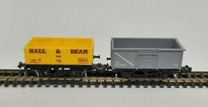 N Gauge Trix10ft Coal/Mineral Wagon Steel Type in BR Grey and lima hall & dean