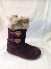 Girls Clarks Brown Suede Boots Size 7.5F