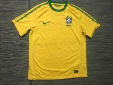Nike Men's Medium Cbf Brazil Pre Match Soccer Jersey Shirt Yellow 369250-703