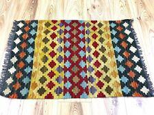 GENUINE Afghan Handmade Tribal Nomadic Chobi Wool Kilim Mat Rug 58x88cm -60%OFF