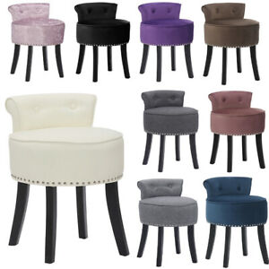 Velvet Button Dressing Table Chair Vanity Stool Piano Stool Bedroom Makeup Chair
