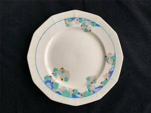 ROYAL DOULTON 'WYNN' FIVE ART DECO DINNER PLATES 1936