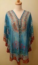 Turquoise kaftan with stones ,BNWT
