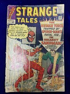Strange Tales Silver Age Comic # 115 lower grade Dr Strange origin sandman