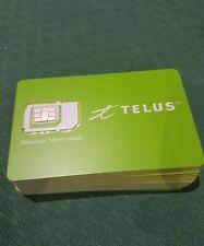 LOT 100 Telus Canada Triple 3 in 1 Nano Micro Standard Sim Card wholesale bulk
