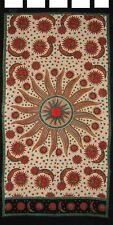 "Celestial Tab Top Curtain Drape Panel Cotton 44"" x 88"" Beige"