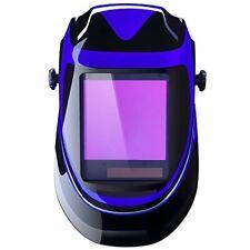 Auto Darkening Solar Powered Welding Helmet with Adjustable Shade Range - Blue