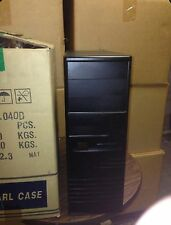 Black Vintage AT Computer Case Mid Tower Build PC 386 486 w/ power supply NEW