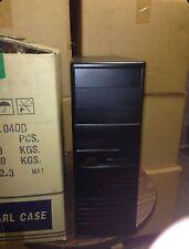 Black Vintage AT Computer Case Mid Tower Build IBM PC 386 486 Pentium BOX DOS