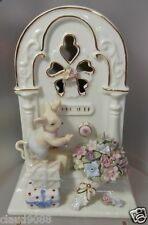 """UNITY GIFTS  """"MOUSE ON RADIO WITH FLOWERS  MUSICAL ORNAMENT """" 10915  MIB"""