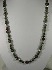 "20"" Dragon's Blood Jasper Bead Necklace"