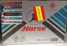 Sello de tinta almohadilla color Negro para estampar cuño tampón marca Horse