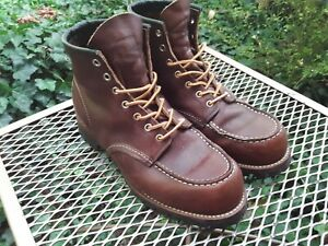 """Red Wing Heritage Moc Toe """"Roughneck"""" 8146 Size 9.5ee"""