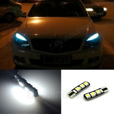 2x White Error Free LED Parking Eyelid Light Bulb T10 194 168 W5W Chevrolet BENZ