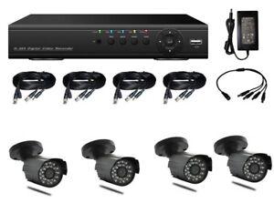 kit videosorveglianza DVR 4 canali telecamere rete internet H264