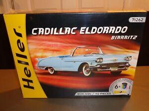 NEW Heller 1958 58' Cadillac Eldorado Biarritz Convertible 1:24 Model Kit #71262