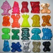 """CRAZY BONES Figures Mixed Lot *20 Pieces* Classic Gogos Original 1"""" Plastic Toys"""